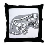Skate back to school Throw Pillow