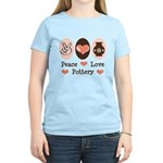 Peace Love Pottery Women's Light T-Shirt