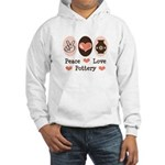 Peace Love Pottery Hooded Sweatshirt