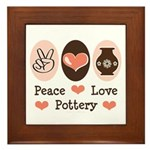 Peace Love Pottery Framed Tile