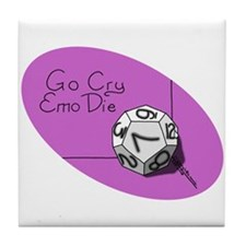 Go Cry Emo Die, Tile Coaster
