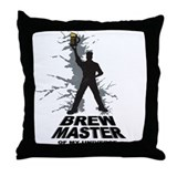Unique Brew master Throw Pillow