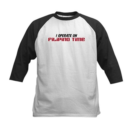 Filipino Time Kids Baseball Jersey