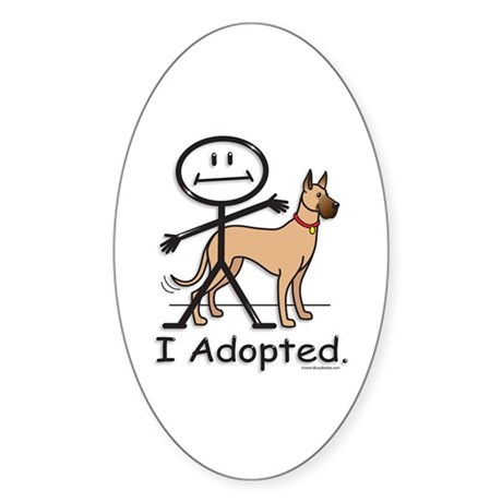 BusyBodies Great Dane (fawn) Oval Sticker