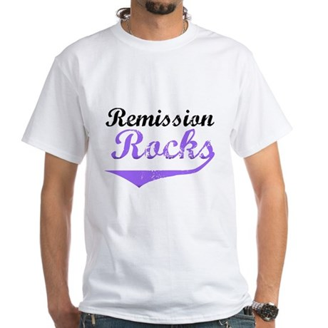 Remission Rocks Hodgkins White T-Shirt