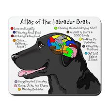 Black Lab Brain Mousepad