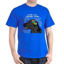 Black Lab Brain T-Shirt