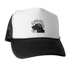 Black Lab Brain Trucker Hat