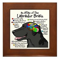 Black Lab Brain Framed Tile