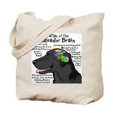 Black Lab Brain Tote Bag