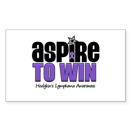 Aspire to Win (HL) Rectangle Sticker 10 pk)