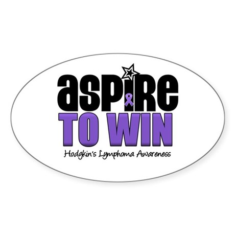 Aspire to Win (HL) Oval Sticker (10 pk)