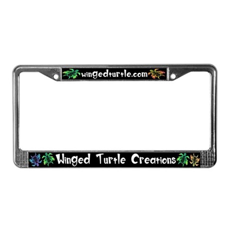 Winged Turtle License Plate Frame