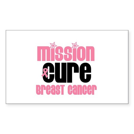 Mission Cure Breast Cancer Rectangle Sticker 10 p