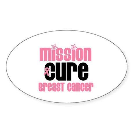 Mission Cure Breast Cancer Oval Sticker