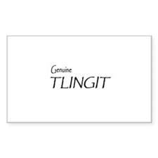 Genuine Tlingit Rectangle Sticker 50 pk)