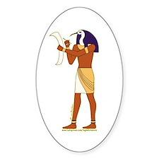 Egyptian God Thoth Oval Decal