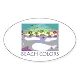 Beach Colors Seashore Oval Decal
