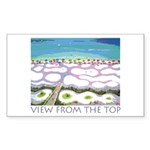 Beach View from the Top Rectangle Sticker