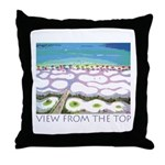 Beach View from the Top Throw Pillow