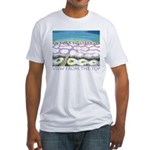 Beach View from the Top Fitted T-Shirt