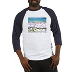 Beach View from the Top Baseball Jersey