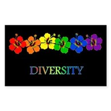 Hibiscus Diversity Rectangle Decal