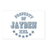 Property of Jayden Personalized Postcards (Package