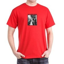 """Furred Reich"" T-shirt (red/blue/grey)"