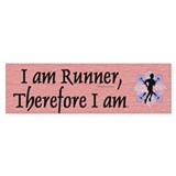 TOP I Am Runner Bumper Car Sticker