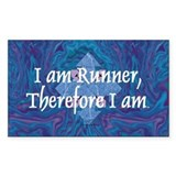 TOP I Am Runner Rectangle Decal