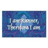 TOP I Am Runner Rectangle Sticker 50 pk)
