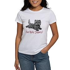 Cairn Terrier Ruby Slippers Tee