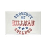 Hillman College Property Of Rectangle Magnet
