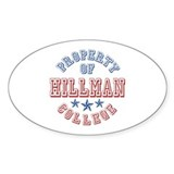 Hillman College Property Of Oval Decal