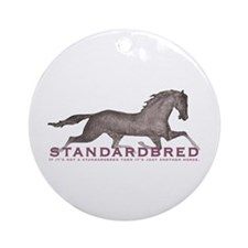 Standardbred Horse Ornament (Round)