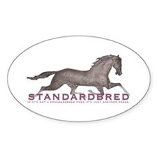 Standardbred Horse Oval Decal