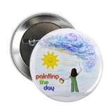 "Painting the Day (B) 2.25"" Button (100 pack)"