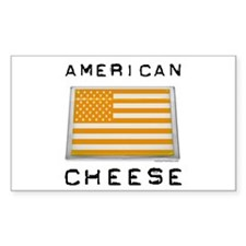 American cheese flag Rectangle Decal