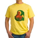 Forest Chestnut Horse Yellow T-Shirt