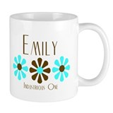 Emily - Blue/Brown Flowers Mug