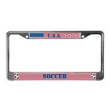USA Soccer License Plate Frame