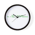 Yes I Am A Geek Wall Clock