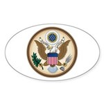 Presidents Seal Oval Sticker (10 pk)