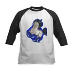 Noble Fantasy Grey horse Kids Baseball Jersey