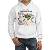 Yellow Lab Brain Hoodie Sweatshirt