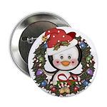 Christmas Penguin Holiday Wreath 2.25