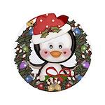Christmas Penguin Holiday Wreath 3.5