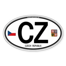 Czech Republic Euro Oval Oval Decal