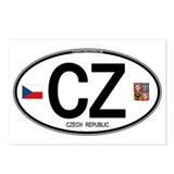 Czech Republic Euro Oval Postcards (Package of 8)